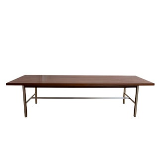 1950s Linear Group Walnut Coffee Table by Paul McCobb For Sale