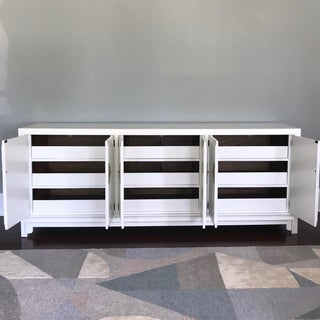 Ming Style 9-Drawer Dresser Cabinet White Satin Lacquer Preview