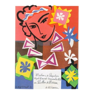 "Henri Matisse Vintage 1989 Authentic Lithograph Print "" Bal Arts Decoratifs Mourlot "" 1951 For Sale"