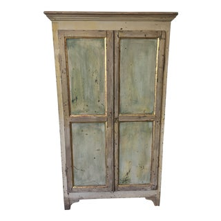French Antique Painted Two Door Cabinet - 19th C.