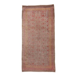 Boho Chic Colorful Khotan Gallery Carpet - 6′8″ × 13′4″ For Sale