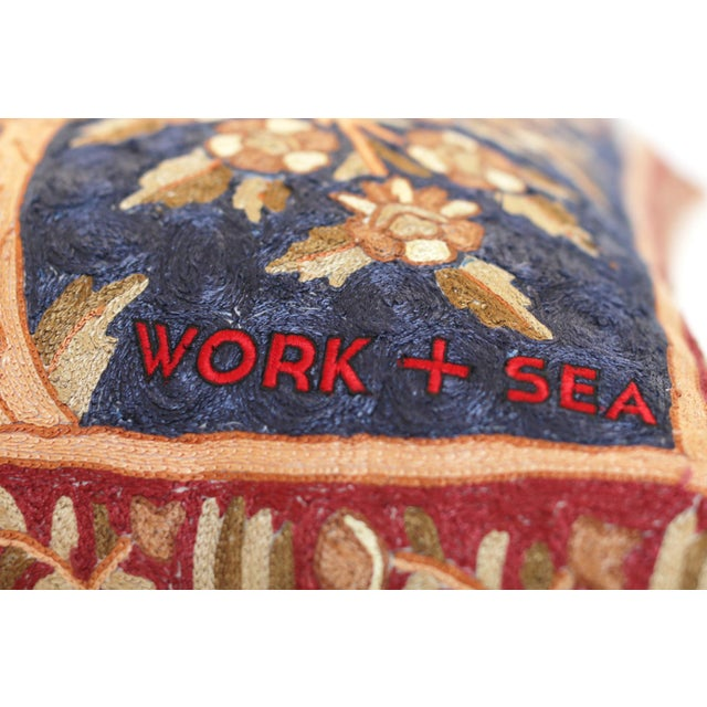 Tapestry Floor Pillow For Sale - Image 4 of 5