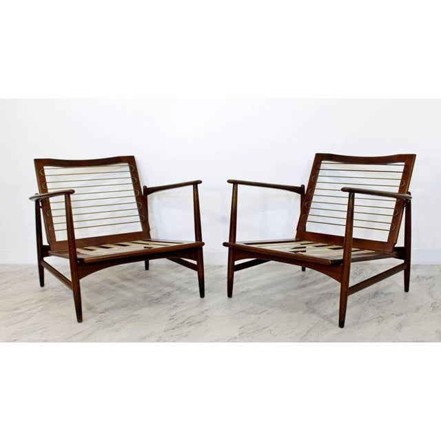 Mid-Century Modern Pair of Kofod-Larsen Selig Lounge Armchairs Denmark, 1960s For Sale - Image 10 of 11