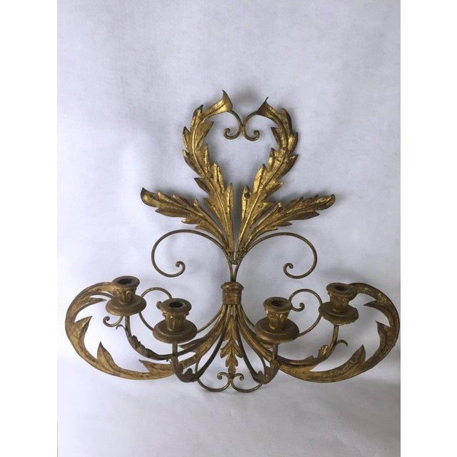 Traditional Hollywood Regency Candle Sconce For Sale - Image 3 of 11