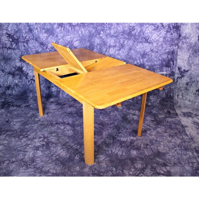 Mid-Century Modern Wooden Dining Kitchen Table For Sale - Image 4 of 10