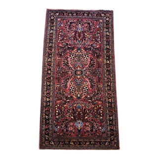 Antique Red Sarouk Rug For Sale