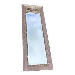 Gampel & Stoll Style Faux Bamboo Full Length Mirror 1 of a Pair For Sale
