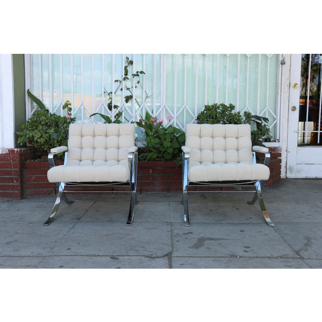 Steel Chrome Lounge Chairs inspired by Milo Baughman For Sale - Image 13 of 13