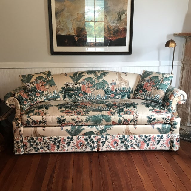 1980s Vintage Pearson British West Indies Jungle Print Sofa For Sale - Image 13 of 13