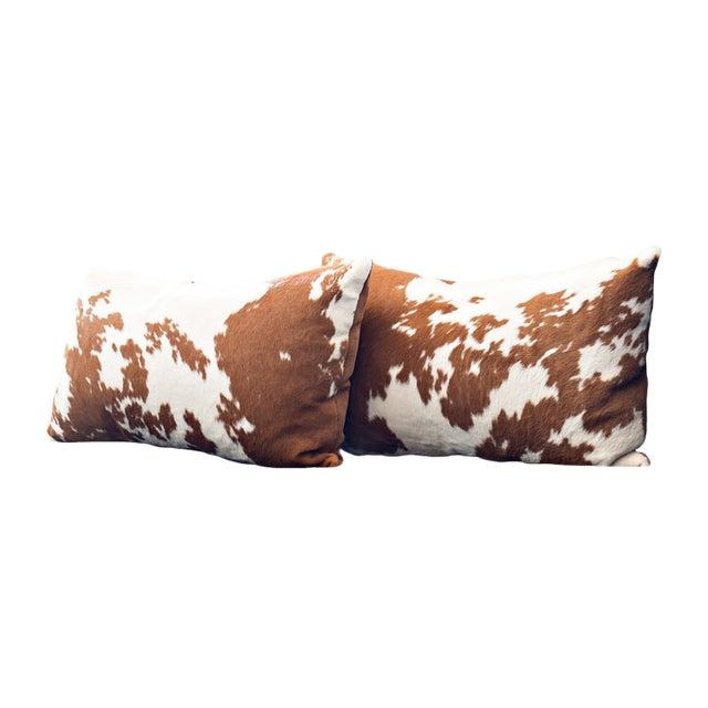 Calf Hide Hair Lumbar Pillows For Sale