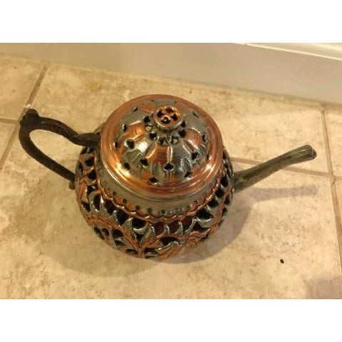 Vintage Turkish Brass Teapot For Sale - Image 5 of 5