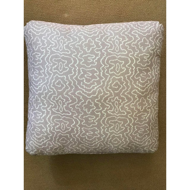 Pale Lavender Squiggle Print Pillow - Image 2 of 4