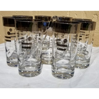 1960s Glass Ice Bucket Tea Glasses - Set of 10 Preview
