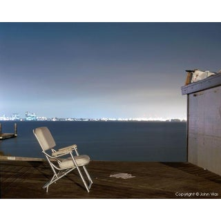 "Contemporary Night Photograph ""Padded Chair"" by John Vias For Sale"