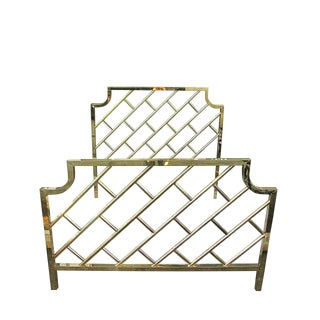 Hollywood Regency Queen Size Headboard & Footboard
