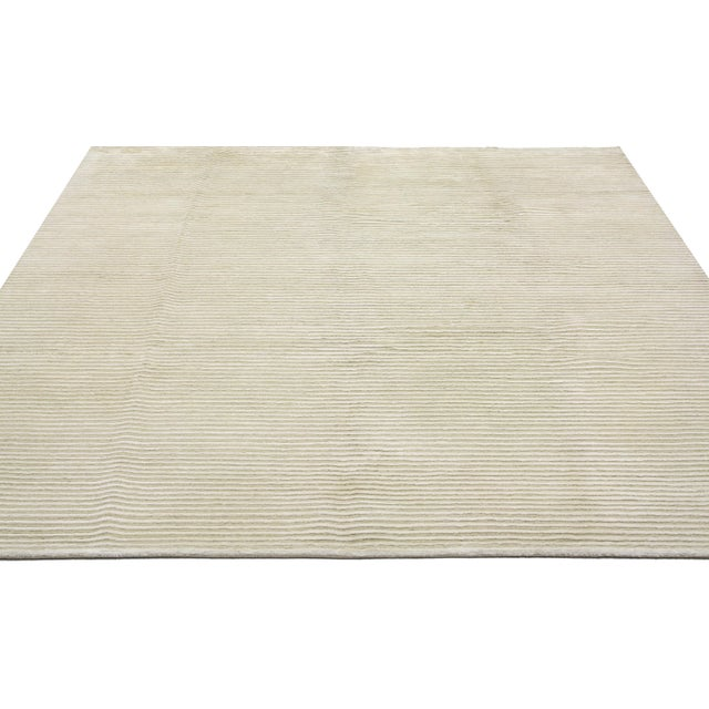 Creamy Beige Transitional Area Rug - 5'9 x 7'8 - Image 3 of 4