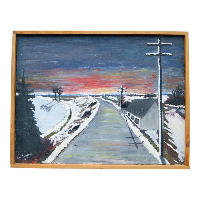 """""""Expressionistic Winter Road"""" by Kim Jeppesen - Image 1 of 5"""