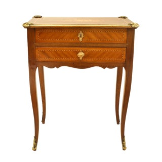 French Louis XV Kingwood Veneer End Table For Sale