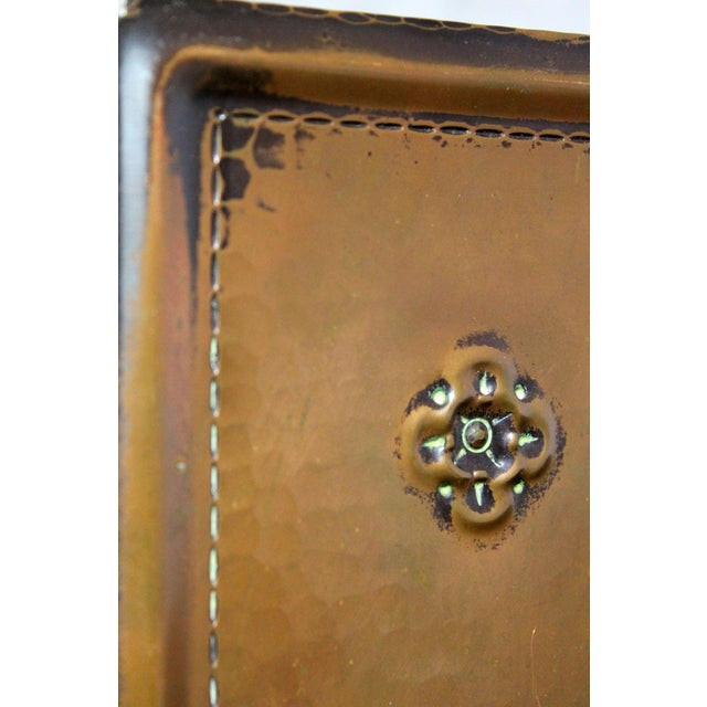 Roycroft Hammered Copper Bookends - A Pair For Sale - Image 7 of 10