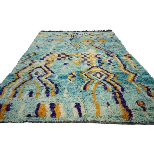 Contemporary Contemporary Berber Moroccan Rug - 5′ × 8′ For Sale - Image 3 of 7