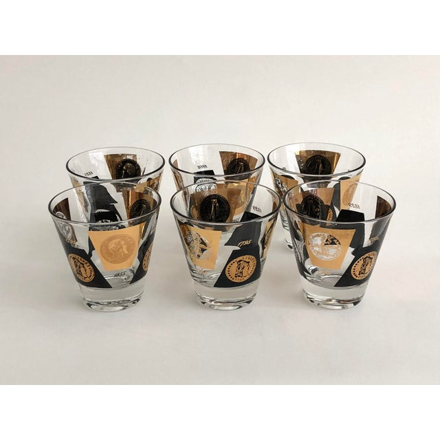 1960s American Classical Gold Leaf Shot Glasses- Set of 12 For Sale In Los Angeles - Image 6 of 6