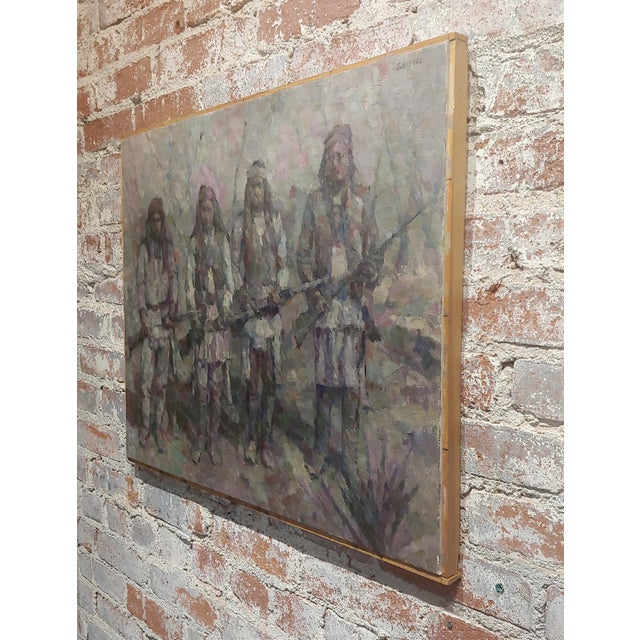 Stevan Kissel - Group of Apache Renegades - Oil Painting For Sale In Los Angeles - Image 6 of 8