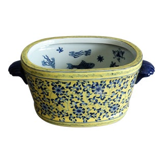 Porcelain Foot Bath With Koi Fish For Sale