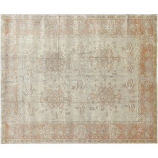 "Contemporary Turkish Oushak Carpet 9'1"" X 11' For Sale"