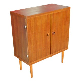 Danish Modern Rose Stained Cabinet For Sale