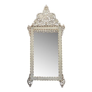 Antique Mid 19th Century Mother of Pearl Inlaid Mirror For Sale