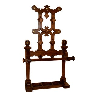 19th-C. English Hall Stand For Sale