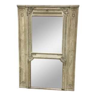 19th Century Carved Oak Trumeau Mirror For Sale