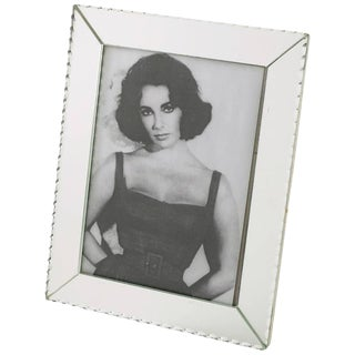 1940s French Mirror Picture Photo Frame For Sale