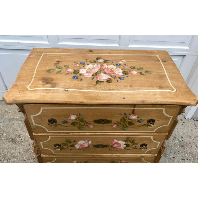 Antique Dutch Folk Decorated Pine Chest For Sale In New York - Image 6 of 12