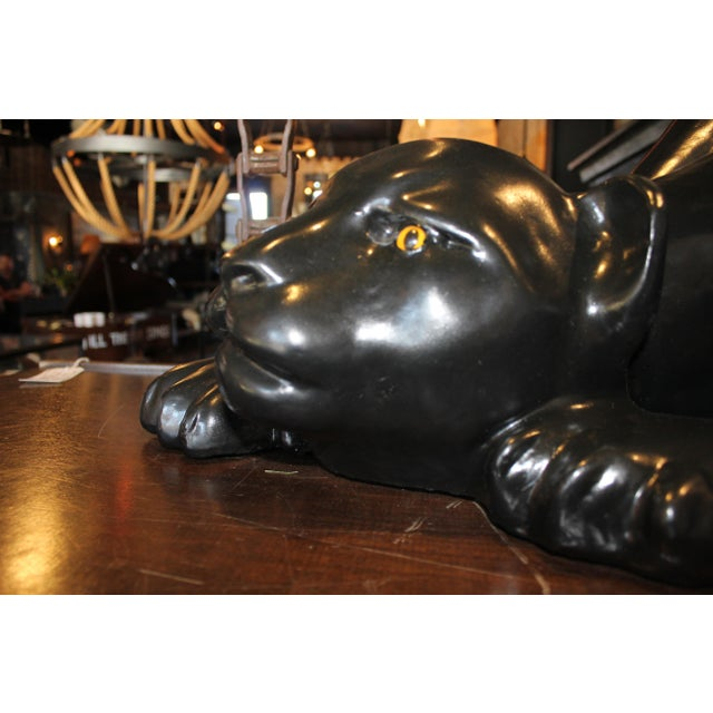 Black Pather Coffee Table Base For Sale - Image 4 of 7