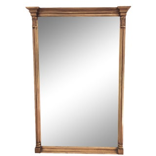 Gilt Victorian Carved Mirror For Sale