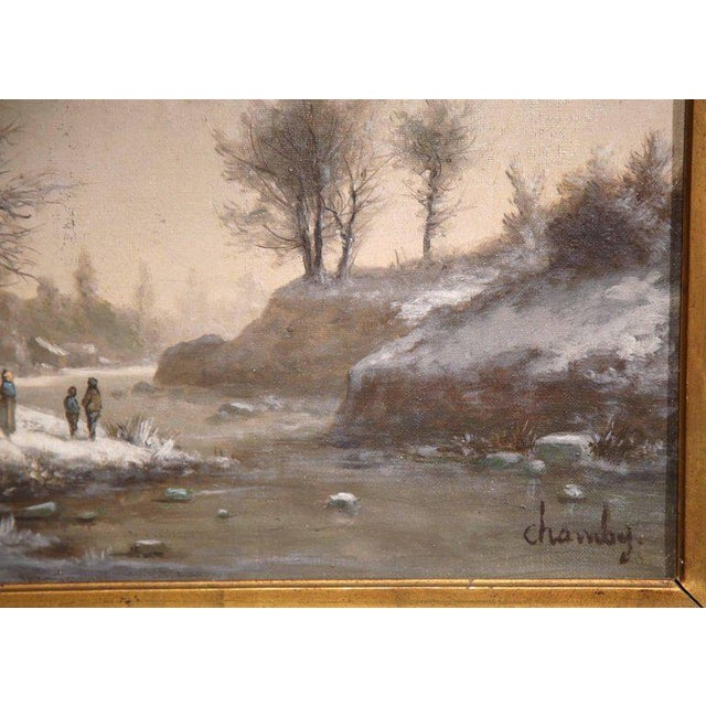 Gilt Framed French Pastoral Paintings - A Pair - Image 8 of 10