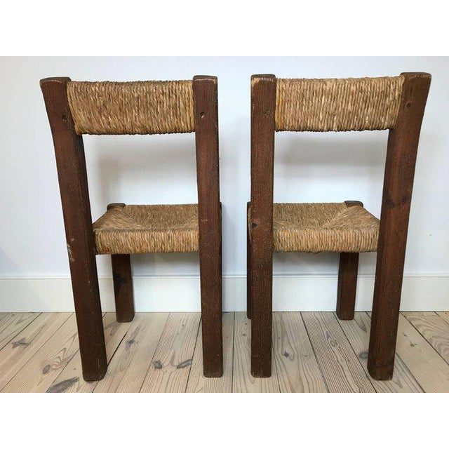 French Country Pair of 19th Century French Side Chairs For Sale - Image 3 of 5