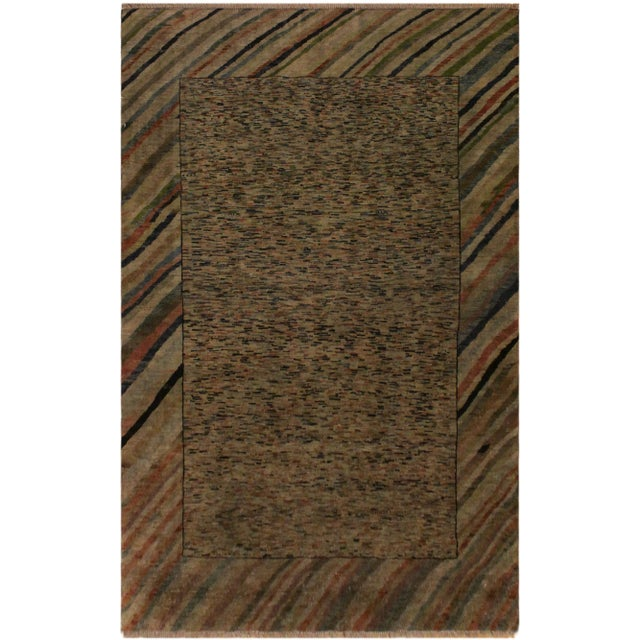 Gold Overdyed Color Reform Glory Gray/Rust Area Rug - 4'7 X 6'4 For Sale - Image 8 of 8