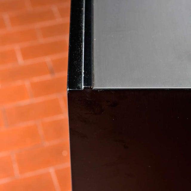 Black Set of Three Cupboards by Osvaldo Borsani for Tecno For Sale - Image 8 of 10