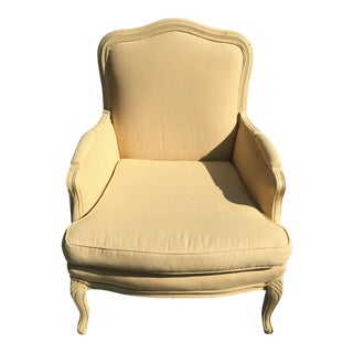 Yellow Mini Checked Louis Arm Chair For Sale