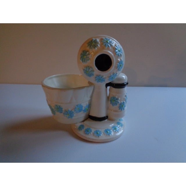 Mid-Century Ceramic Telephone Pencil Cup For Sale In New York - Image 6 of 6