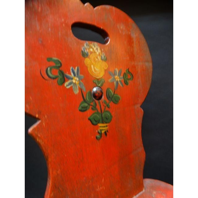 Monterey Classic Red Keyhole Chair - Image 6 of 8