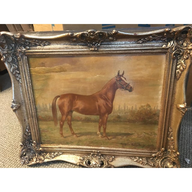 This is an original painting of Horse named 'Bobby' by German painter Wilhelm Westerop (1876-1954) who specialized in...