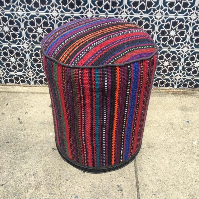 Vintage Kilim Fabric Stool - Image 3 of 4