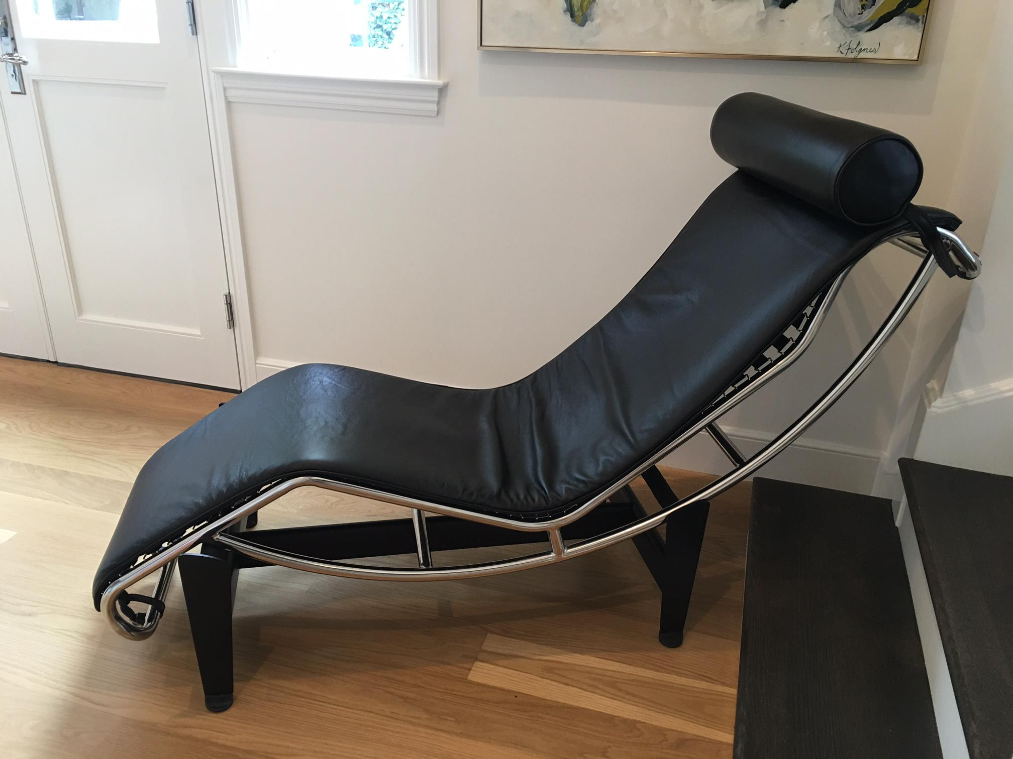 Beautiful Midcentury Modern Le Corbusier Lc Style Chaise Lounge Chair