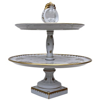 Limoges 2 Tier Dessert Server