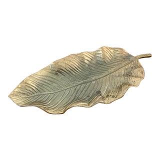 Brass Leaf Tray For Sale