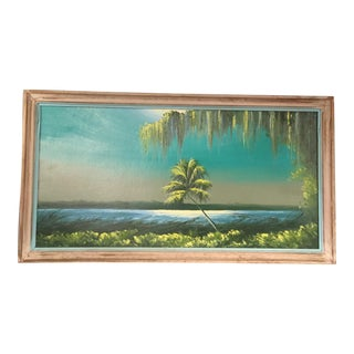 Contemporary Florida Landscape Highwaymen Oil Painting by James Gibson, Framed For Sale