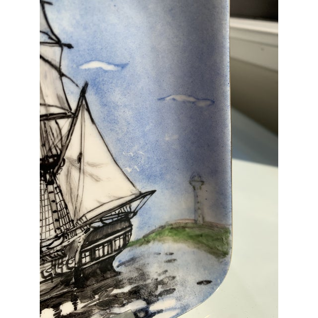 1970s 1970s Nautical Porcelain Tray For Sale - Image 5 of 12